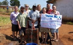 Farmer Tantoh and Team SAIWI, happy to have completed the well